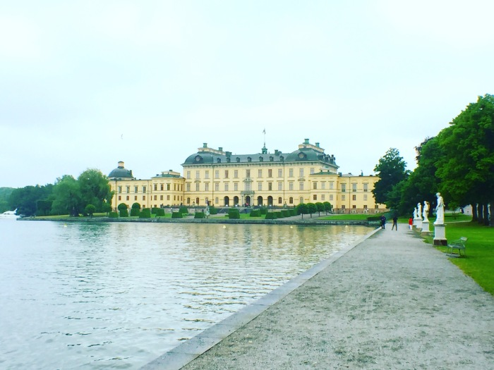 Drottningholm Slott in Stockholm, as seen from the wharf
